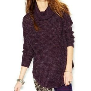 Free People Dylan Tweedy Cowl Neck Sweater